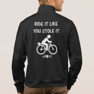 """""""Stole it"""" ebike cycling jackets for him"""