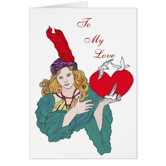 Stolen Hearts Valentine Card