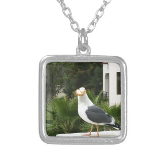 STOLEN LUNCH SILVER PLATED NECKLACE