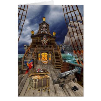 STOLEN PIRATE TREASURE CARD