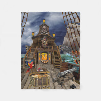 STOLEN PIRATE TREASURE FLEECE BLANKET