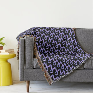 Stomach Cancer Periwinkle Ribbon Throw Blanket