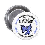 Stomach Cancer Survivor Hope Determination Faith Pins