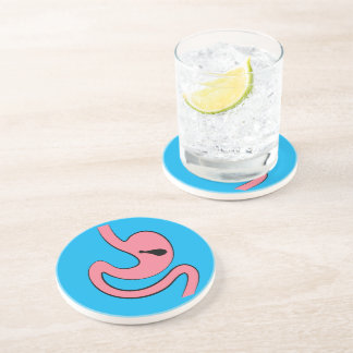 Stomach with Chicken Drumstick Drink Coasters