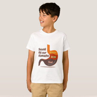 Stomachs food drink breath kids t-shirt