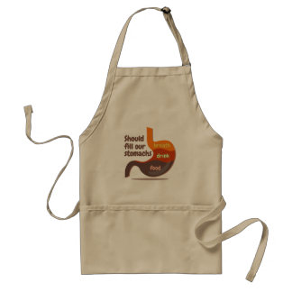 Stomachs food drink breath Standard Apron