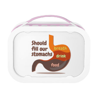 Stomachs food drink breath Yubo Lunchbox, Pink Lunch Boxes