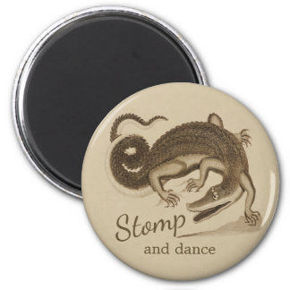 Stomp and dance CC0894 Wild happy crocodile Magnet