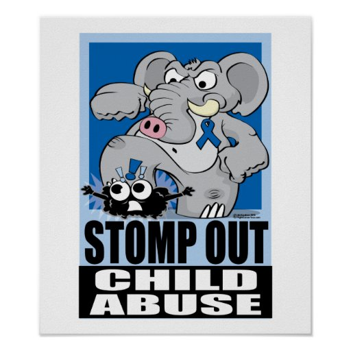 Stomp Out Child Abuse Posters