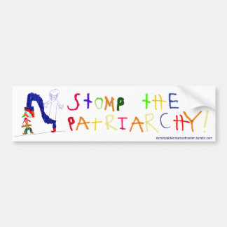 Stomp the Patriarchy Bumper Sticker