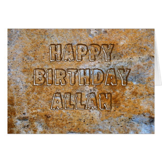 Stone Age Happy Birthday Allan Card