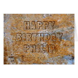 Stone Age Happy Birthday Philip Card