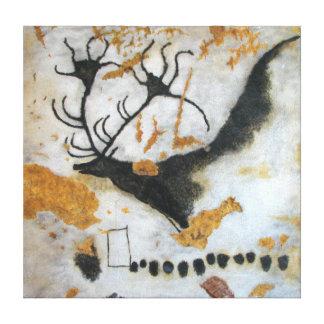 Stone Age Lascaux Megaloceros Cave Painting Canvas