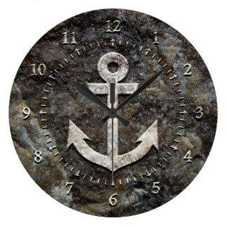 Stone Anchor Clock