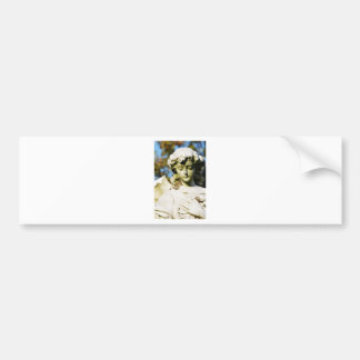 Stone angel bumper sticker