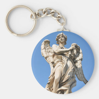 Stone angel in Rome, Italy Keychain