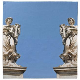 Stone angel in Rome, Italy Napkin