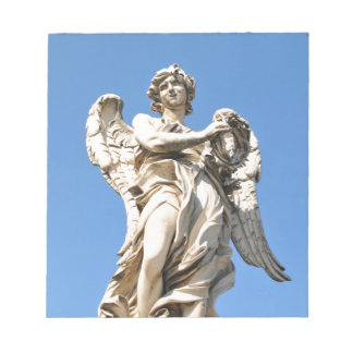 Stone angel in Rome, Italy Notepad