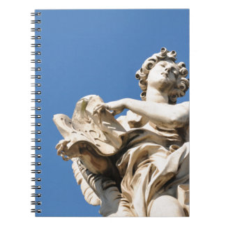 Stone angel in Rome, Italy Spiral Notebook