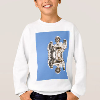 Stone angel in Rome, Italy Sweatshirt