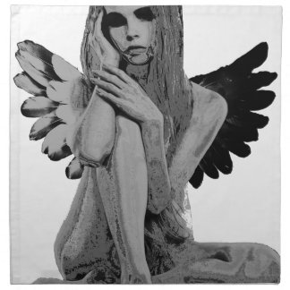 Stone angel napkin