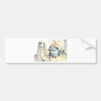 Stone angel portrait bumper sticker