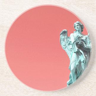 Stone angel statue coaster