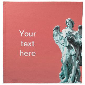Stone angel statue napkin
