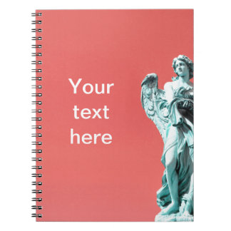 Stone angel statue notebooks