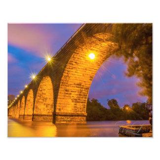 Stone Arch Bridge Art Photo