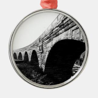 Stone Arch Bridge Metal Ornament
