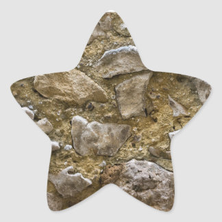 Stone Art Designed Star Sticker