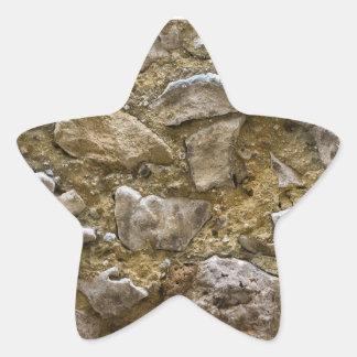 Stone Art Designed Star Sticker