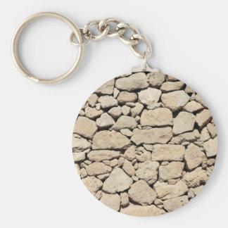 Stone Background Basic Round Button Keychain