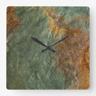 Stone Background - Slate Rock Customized Template Square Wall Clock