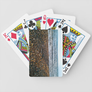 Stone beach bicycle playing cards