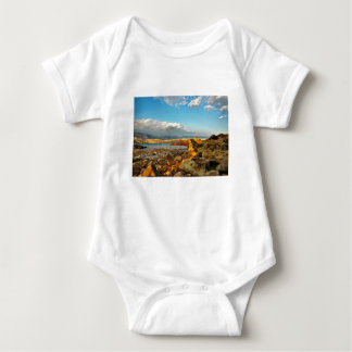 Stone beach on the island Pag in Croatia Baby Bodysuit