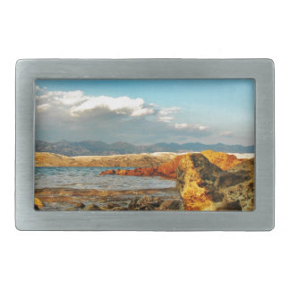 Stone beach on the island Pag in Croatia Belt Buckle