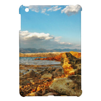 Stone beach on the island Pag in Croatia iPad Mini Cover