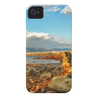 Stone beach on the island Pag in Croatia iPhone 4 Case