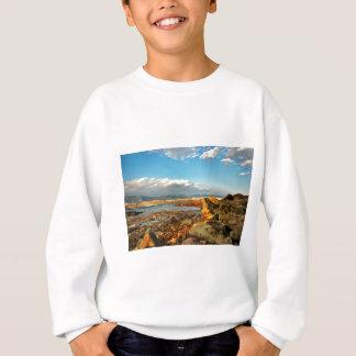 Stone beach on the island Pag in Croatia Sweatshirt