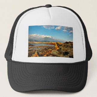 Stone beach on the island Pag in Croatia Trucker Hat