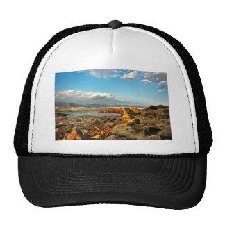 Stone beach on the island Pag in Croatia Trucker Hat