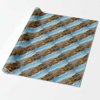 Stone beach on the island Pag in Croatia Wrapping Paper