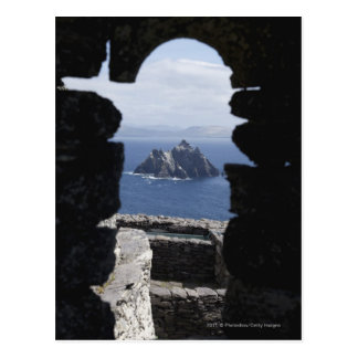 Stone Beehive Monk Huts Clochanson Skellig Michael Postcard