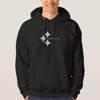 Stone black hoodie