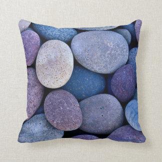 Stone blue rocks throw pillow