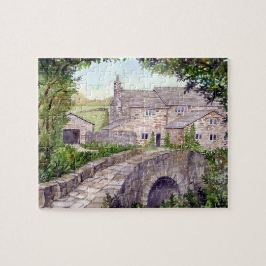 Stone Bridge Watercolor Painting Jigsaw Puzzle