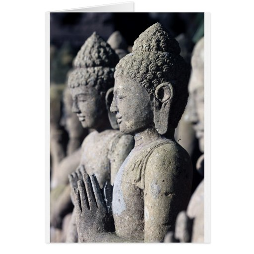 Stone Buddha statues Greeting Cards