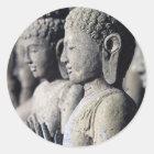 Stone Buddha statues Classic Round Sticker